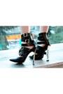 Black-ami-clubwear-boots-white-print-ami-clubwear-dress
