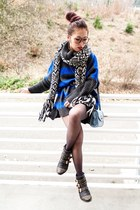blue nowIStyle sweater - black studded JustFab boots