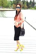 strappy H&M heels - fringed Forever 21 bag - jumpsuit Forever 21 pants - H&M top