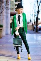 yellow ami clubwear pumps - dark green plaid Lemonade Clothes leggings