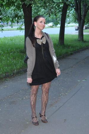 Accessorize shoes - Vero Moda dress - reserved tights - Vero Moda cardigan