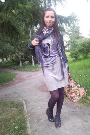 Incity dress - Zara coat - reserved tights - reserved bag - Oasis sandals