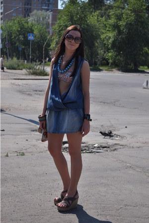 reserved bodysuit - Bershka bra - Carnaby sandals