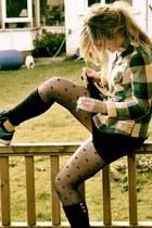 Topshop shirt - Topshop tights - Pastry sneakers
