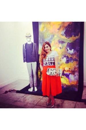 orange vintage skirt