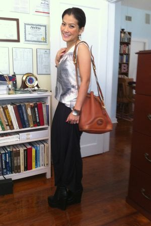 Zara t-shirt - Thrift Store skirt - LUCYD ACYD shoes - Dooney&Bourke bag