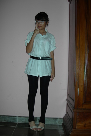 shirt - belt - tights -