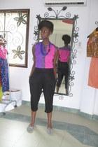hot pink Ajepomaa Gallery shirt - amethyst Ajepomaa Gallery shirt