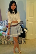 Old Navy shirt - homemade skirt - vintage belt - Target shoes