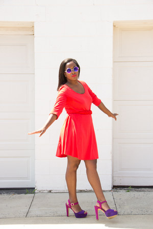 H&M dress - NYS Eyewear sunglasses - Payless heels