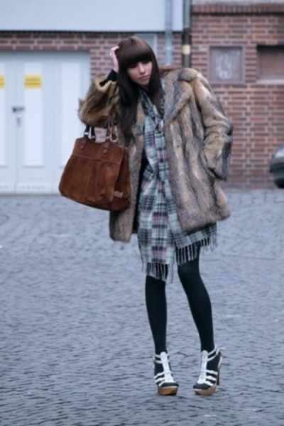H&M accessories - H&M accessories - c&a tights - vintage coat - Steve Madden via