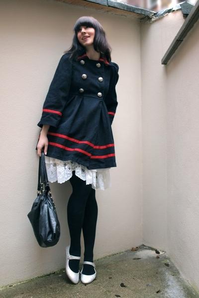 Pret A Portobello coat - self-made skirt - Zara accessories - second-hand shoes