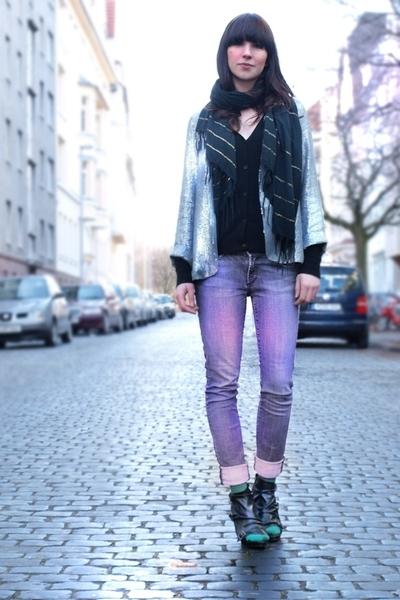 Topshop blazer - H&M shirt - Ebay boots