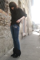 second hand sweater - H&M and selfmade jeans - Primark boots