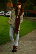 oversized top plus skinnies