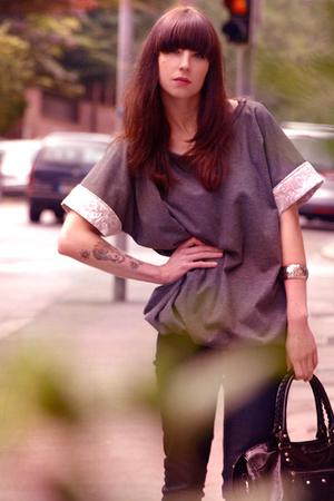 black balenciaga accessories - black Topshop shoes - blue denim skinny H&M jeans