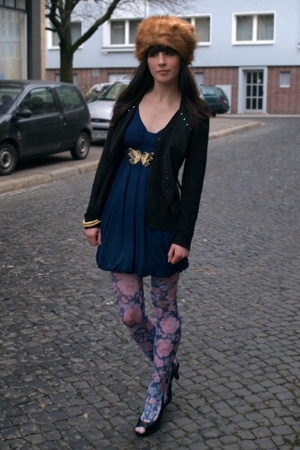 blue jersey topshop Topshop dress - black Street shoes