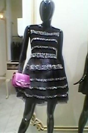 black RED valentino dress - bubble gum leather Jimmy Choo bag