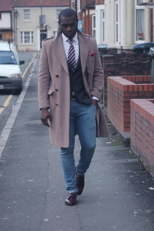 cashmere John Lewis coat - denim River Island jeans