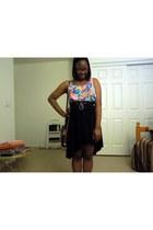 black dooney & burke bag - black high-low skirt Target skirt