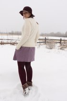 leather Old Navy jacket - DV by dolce vita boots - purple dress PacSun dress
