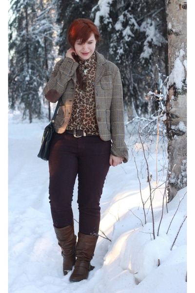 Old Navy blouse - Madden Girl boots