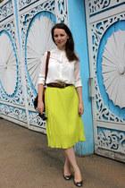 asos skirt - Guess heels - Mango blouse - Bershka belt