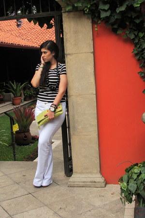 Zara jeans - Nine West purse - Zara top - Nine West wedges
