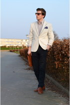H&M blazer - Michael Zingaro bag - H&M accessories - Christian berg pants