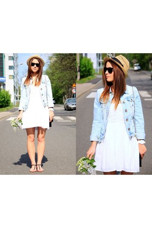 H&M hat - Zara dress - jeans Bershka jacket - Parfois sandals