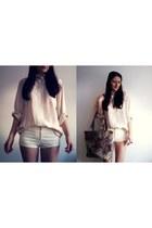 c&a shirt - kaapahl bag - new look shorts