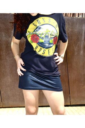 black Primark shirt - black skirt
