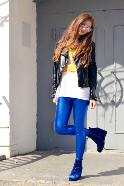 blue OASAP leggings