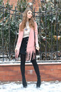 Light-pink-faux-suede-oasap-coat-black-faux-suede-new-look-heels