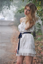 white DIY dress