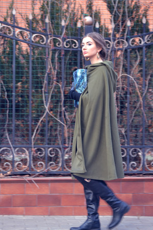 olive green OASAP cape