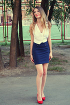 navy Newlook skirt
