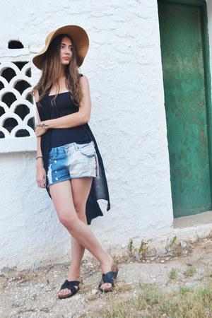 black Topshop swimwear