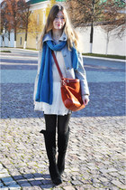 blue H&M scarf