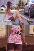 burnt orange Jessica Simpson heels