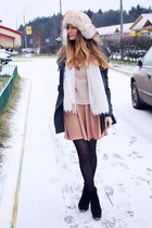 new look boots - knitted H&M sweater