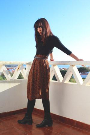 Diesel boots - vintage skirt