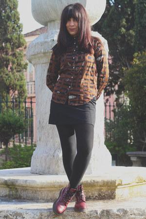 Dr Martens boots - vintage Ralph Lauren shirt