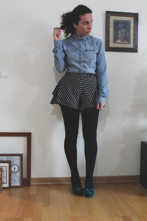 denim Levis shirt - Ebay shorts - Melissa wedges