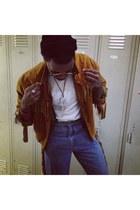 orange vintage jacket