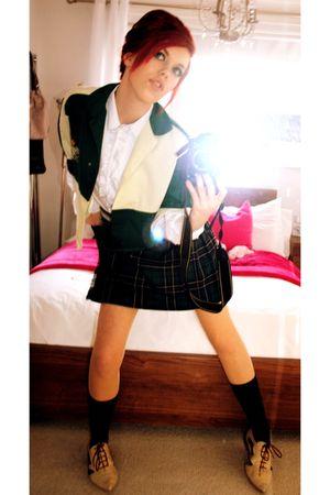 Ammended School jacket jacket - Hand made ruffle shirt shirt - Ammended school k