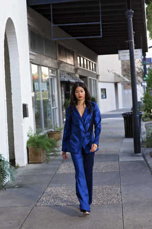 blue Alex Malay blazer - blue Alex Malay pants