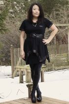 black Romeo & Juliet Couture shirt - black American Apparel skirt - black Romeo