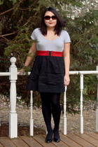 black BeBop Macys dress - red Target belt - black Penneys stockings - black Lucc