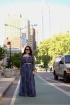 blue greylin dress - charcoal gray Anthropologie cardigan